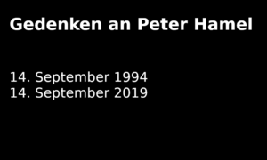 Gedenken an Peter Hamel